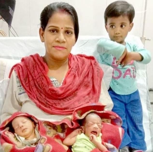Indian couple name their newborn baby boy