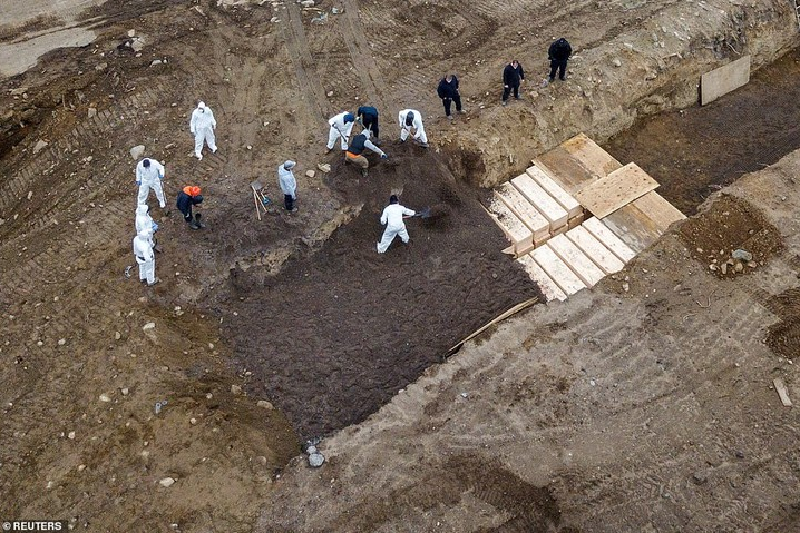 Dozens of bodies buried in mass grave on New York