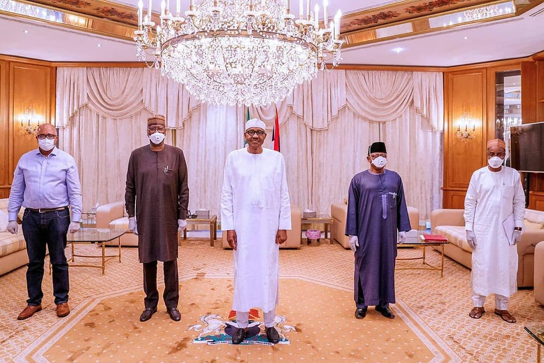 Photos: President Buhari receives briefing from members of presidential taskforce for COVID-19