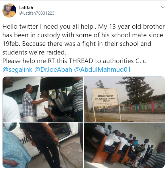 13-year-old boy and his classmates in police custody since February 19 over a fight at their school (photos)