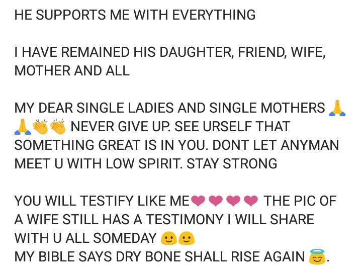 Woman narrates how she went from being a single mother of two to a side chic, then a wife