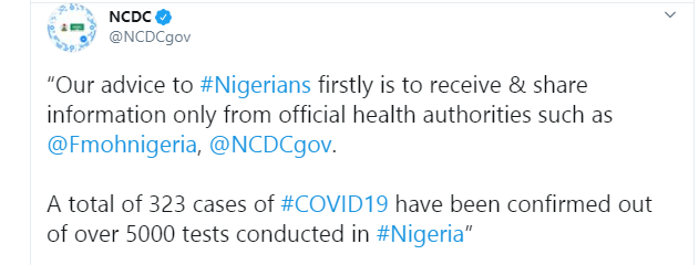 NCDC reveals how many Coronavirus tests it has conducted in Nigeria