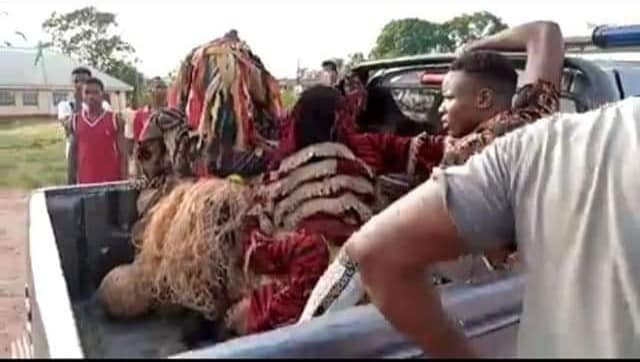 Coronavirus: Masquerades arrested in Anambra for defying stay-at-home order (photos/video)