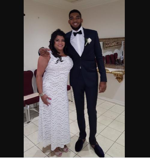 NBA star Karl-Anthony Towns