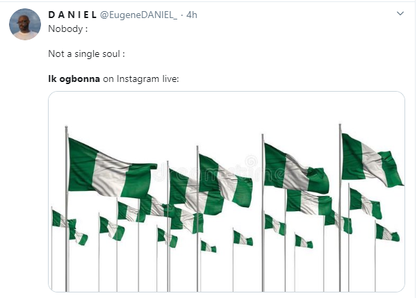 Tory Lanez calls out IK Ogbonna repeatedly for continuously posting Nigerian flag on his Instalive video, Nigerians react (video)