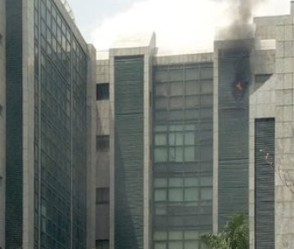 Corporate Affairs Commission Headquarters Abuja gutted by fire(photos)