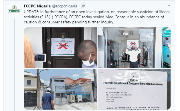 FG shuts down Med Contour plastic surgery facility after botched surgery (photos)