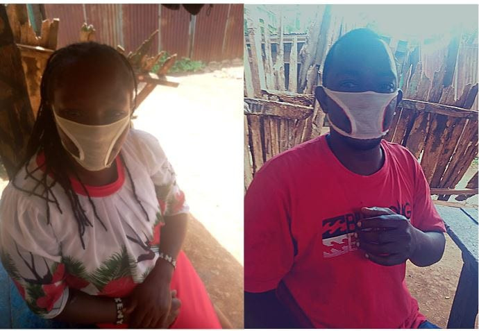 Kenyan wearing Panties as Nose Mask after Scam