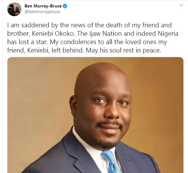 Ben Murray-Bruce confirms death of Keniebi Okoko during plastic surgery
