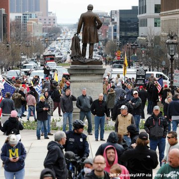 COVID19: Thousands of protesters shockingly take to the streets of Michigan and chant