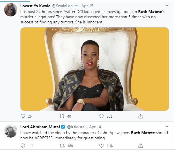 Dci question ruth matete over husband death