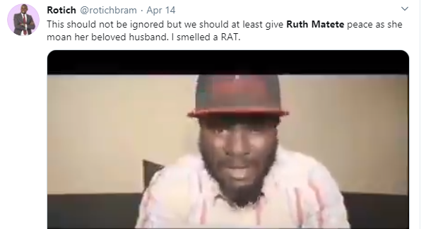 How did Ruth Matete Nigerian husband die