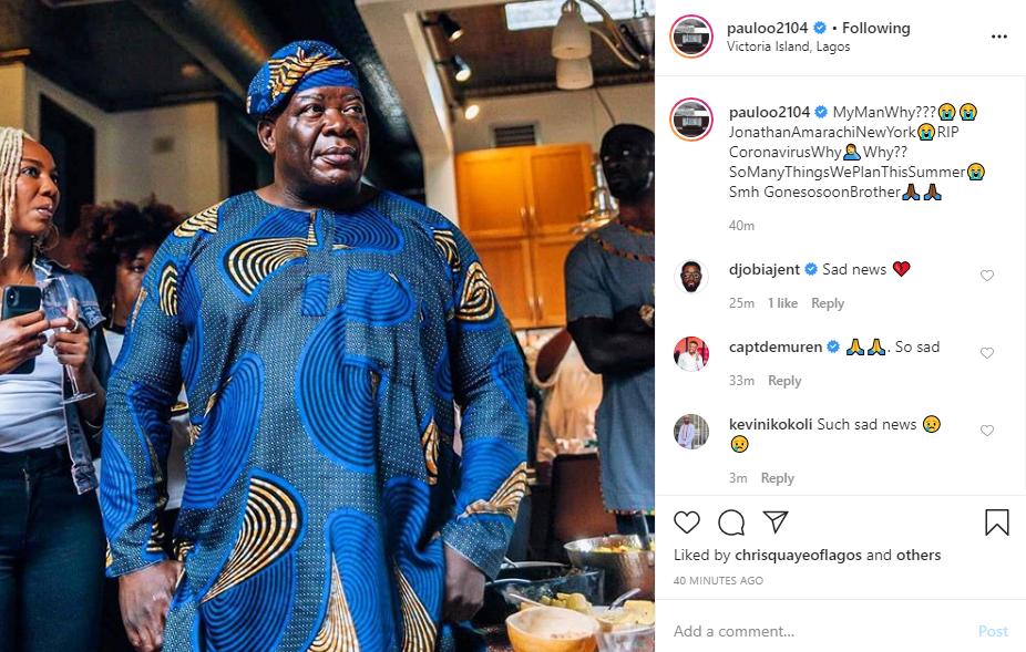 Nigerian man dies of COVID-19 in the US