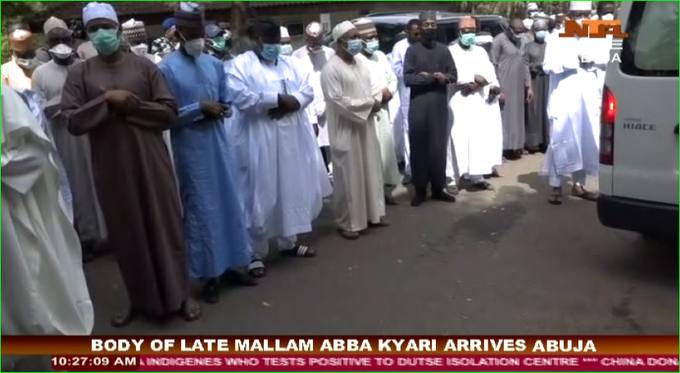 Abba Kyari?s body arrives Abuja; to be buried in line with procedure for deceased Coronavirus patients (photos)