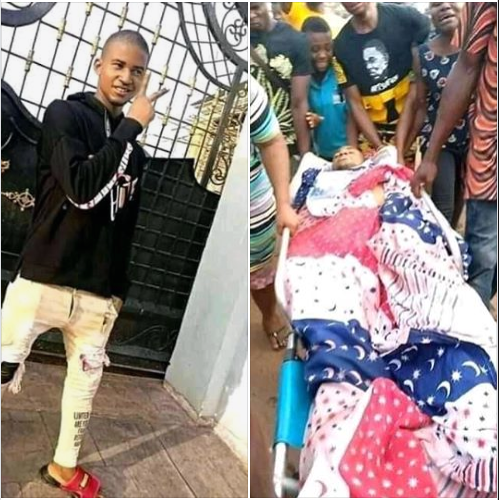 Police station, customary court, DPO residence burnt down by angry youths after a young man was allegedly killed by a policeman in Abia (photos/videos)