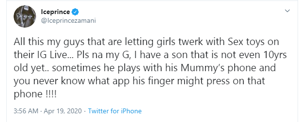 Ice Prince and OAP Dotun react as some Nigerian girls masturbate on Instalive videos of MC Galaxy and Slimcase ( +18 photos)
