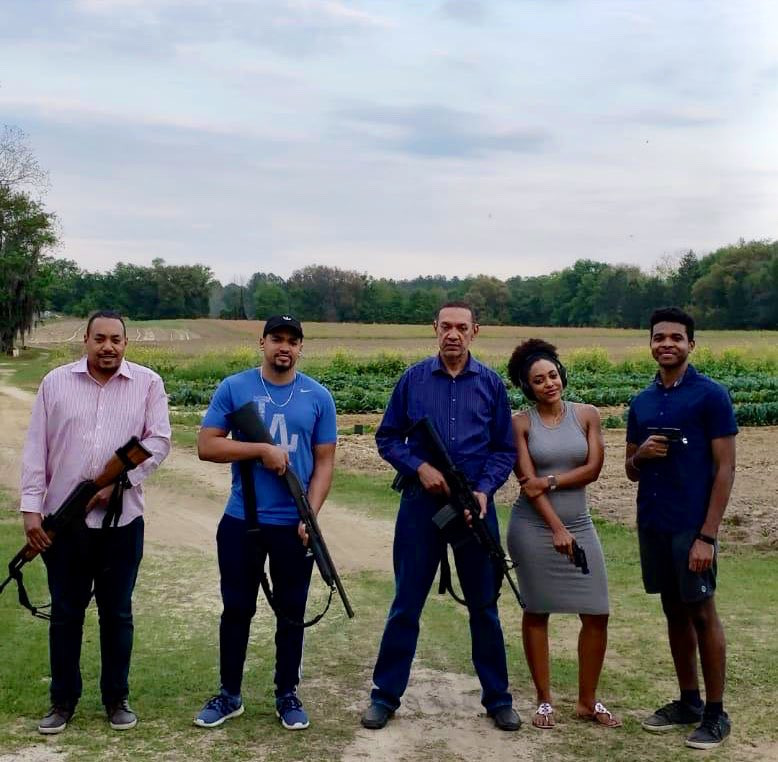 Ben Murray-Bruce and his kids pose with guns (photos)