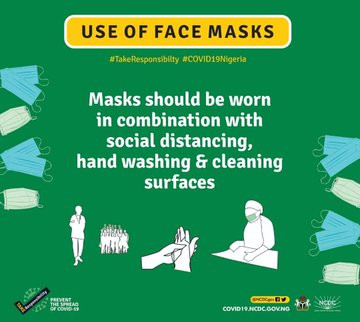 The use of face masks can pose a risk of Coronavirus infection - NCDC