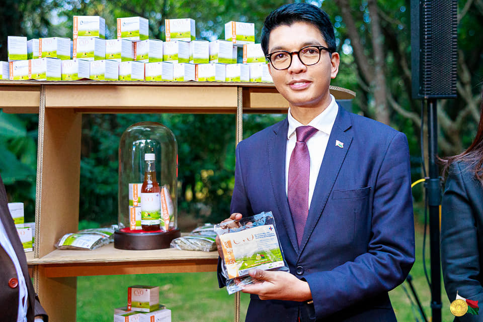 Madagascar president Andry Rajoelina unveils a local herbal remedy?that can allegedy prevent and cure Coronavirus?(Photos)