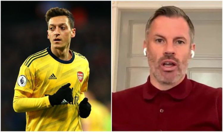 Jamie Carragher slams Mesut Ozil after the Arsenal star refused to take pay cut during Coronavirus crisis despite being the club