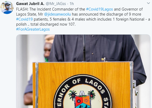 Lagos state government discharges nine more COVID-19 patients