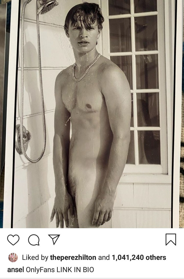 Actor Ansel Elgort goes nude on Instagram