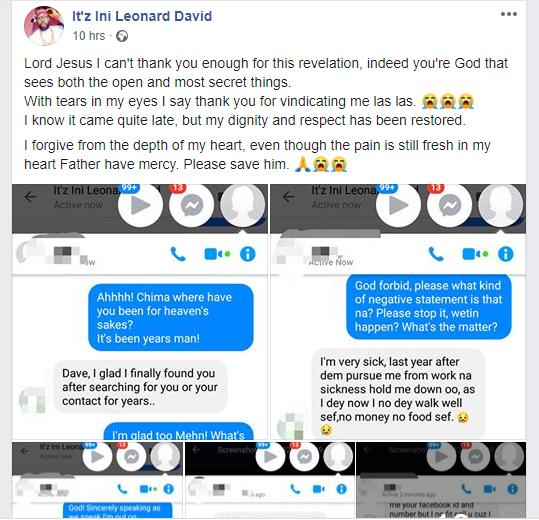 Man shares chat he had with a friend he once helped confessing to making him lose his job because of jealousy