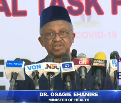 Over 40 Health workers have tested positive for COVID-19- Minister of Health, Osagie Ehanire (video)