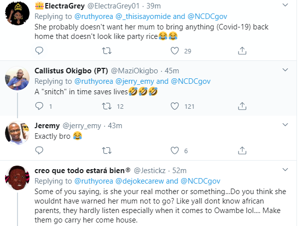 Nigerian lady calls on NCDC to