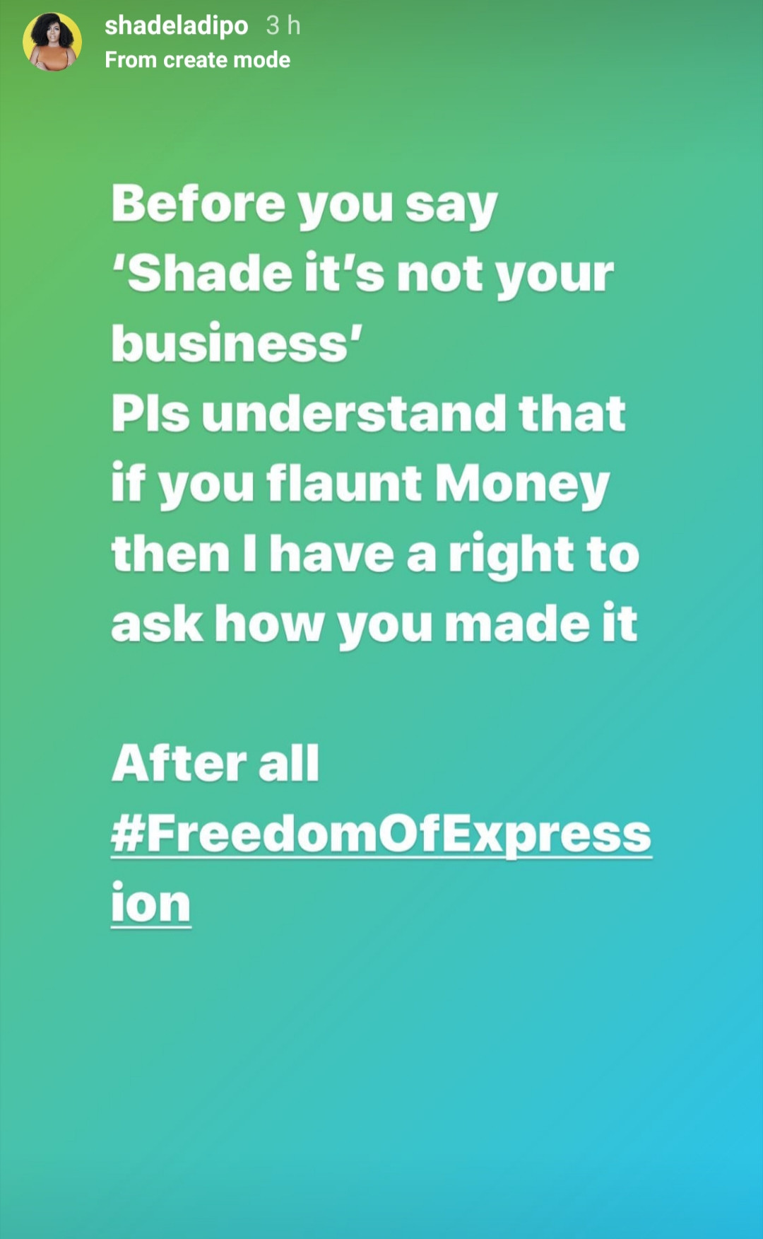 If you flaunt money, I have the right to ask how you made it -media personality, Shade Ladipo