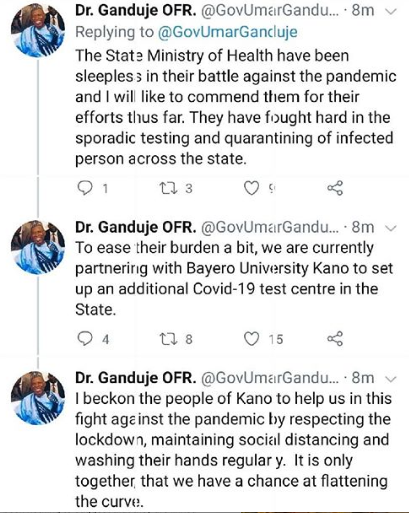 There is nothing to suggest mysterious deaths in Kano are linked to COVID-19 - Gov Umar Ganduje