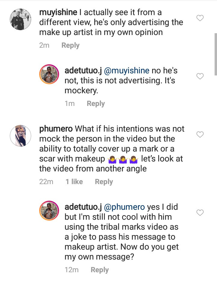 Model with prominent tribal marks, Adetutu OJ calls out Broda Shaggi for his