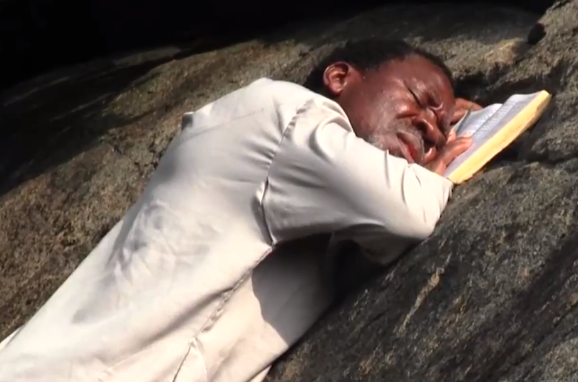 ''He is self-isolating'' Twitter users react to photos of Prophet TB Joshua praying on a mountain against COVID-19 44