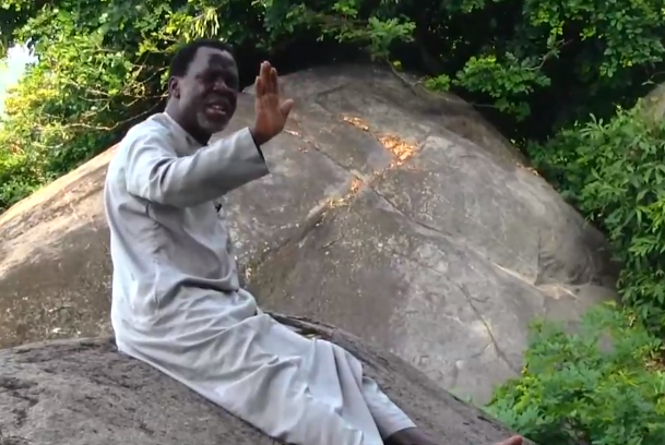 ''He is self-isolating'' Twitter users react to photos of Prophet TB Joshua praying on a mountain against COVID-19 45