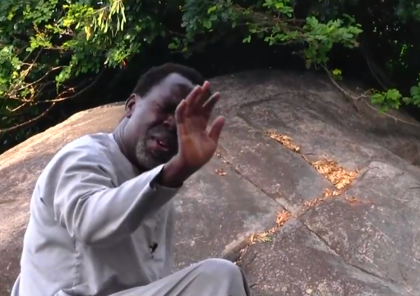 ''He is self-isolating'' Twitter users react to photos of Prophet TB Joshua praying on a mountain against COVID-19 47