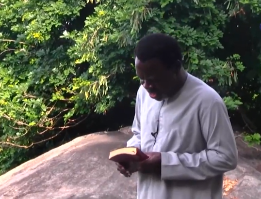 ''He is self-isolating'' Twitter users react to photos of Prophet TB Joshua praying on a mountain against COVID-19 50