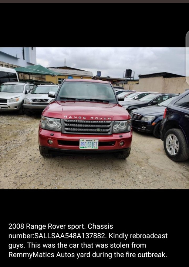 Moment man pretending to help allegedly steals Range Rover from car dealership during the Ogba fire