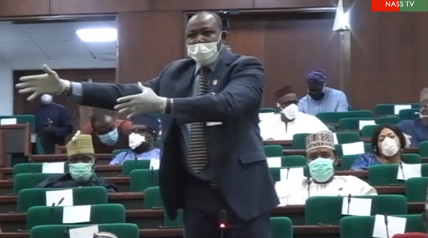 Lawmakers adorn face masks, hand gloves, observe social distancing as plenary resumes today (photos)