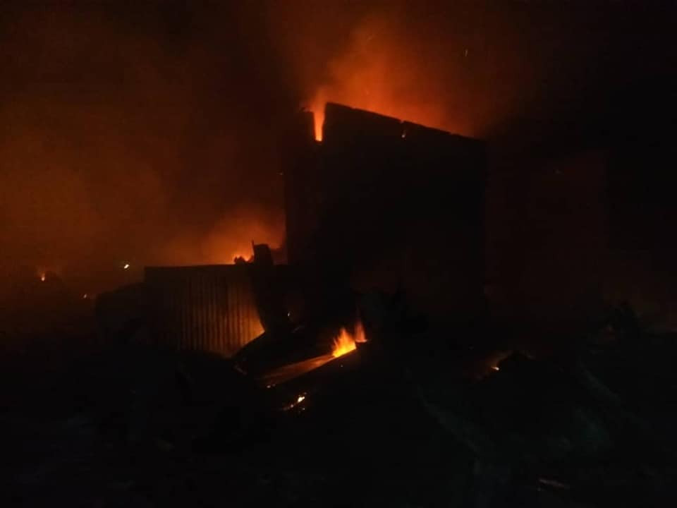 Goods worth millions of Naira destroyed as fire guts shops and pharmacy in Kaduna (photos)