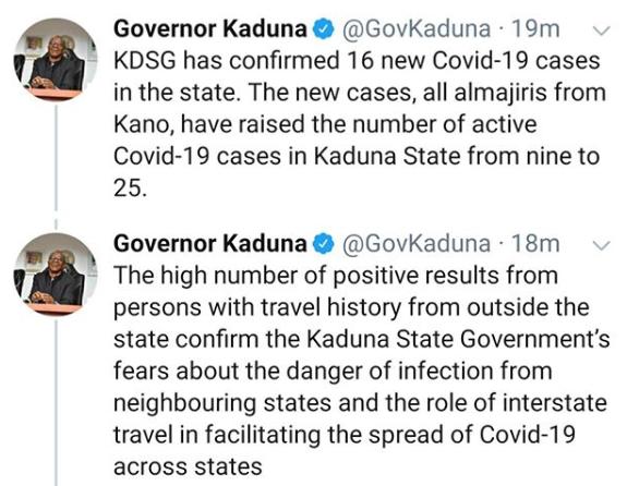 16 Almajiris repatriated from Kano to Kaduna state, test positive for Coronavirus