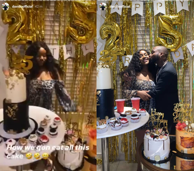 Chioma Rowland holds a small birthday celebration to mark turning 25 (photos/video)
