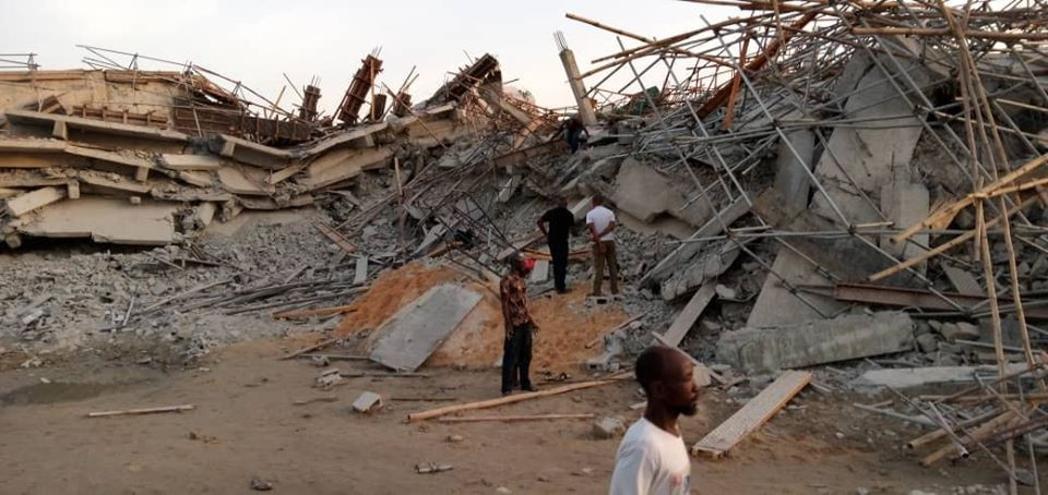 Update: Three more bodies recovered from site of Imo building collapse; mother and her two children still trapped in rubble