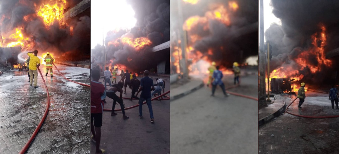 One killed as petrol tanker explodes at Obalende flyover (photos/video)