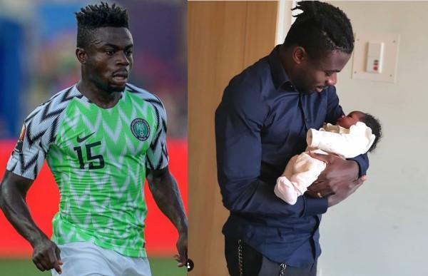 Super Eagles player, Moses Simon and wife, Ibukunoluwa, welcome a ...