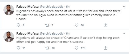 """""""Nigerians will always be ahead of Ghanaians if we don?t stop hating each other"""" ?- Ghanaian singer, Palago Mufasa says"""