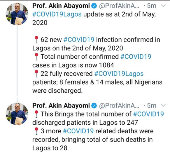 Three more COVID19 related deaths recorded in Lagos