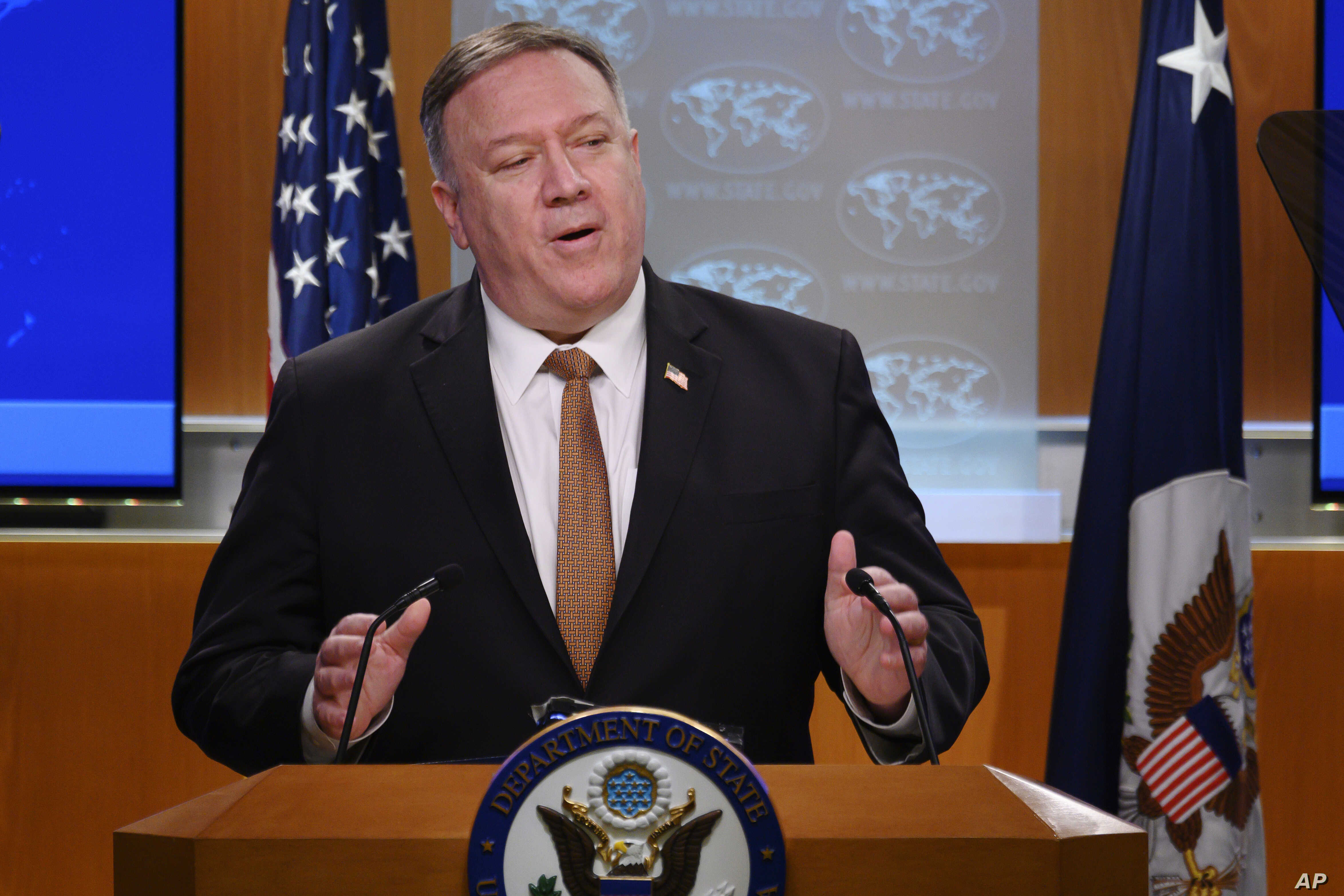 US Secretary of State, Mike Pompeo says there is 'enormous evidence' that the Coronavirus originated in Wuhan laboratory in China