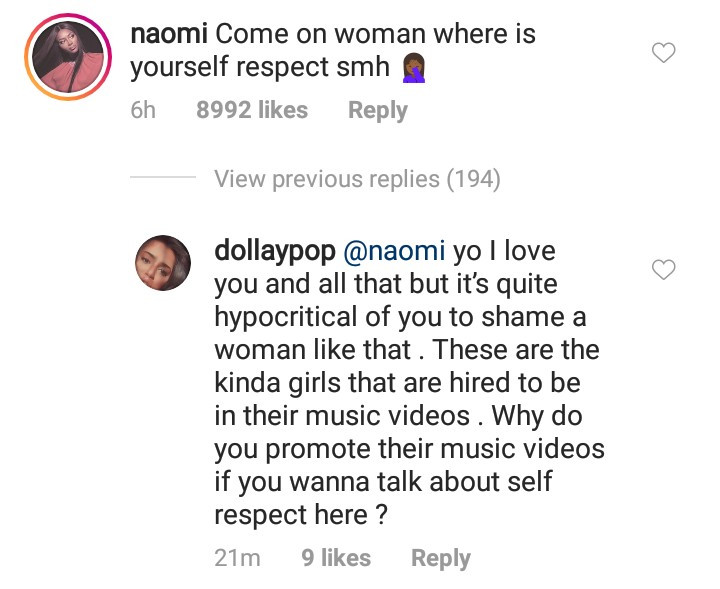 Naomi Campbell gets called out after she condemned a scantily-clad woman who twerked on DJ Khaled