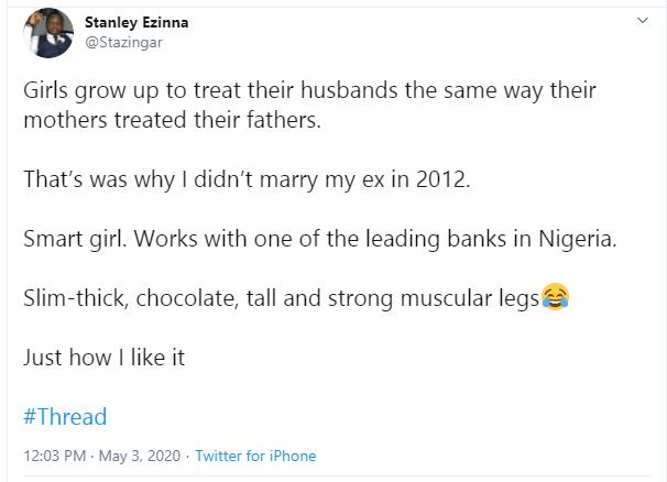 Twitter Stories: Nigerian man reveals why he didn