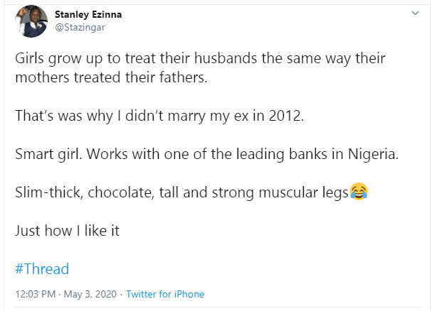 Twitter Stories: Nigerian man reveals why he didn't marry his ex-girlfriend after meeting her family